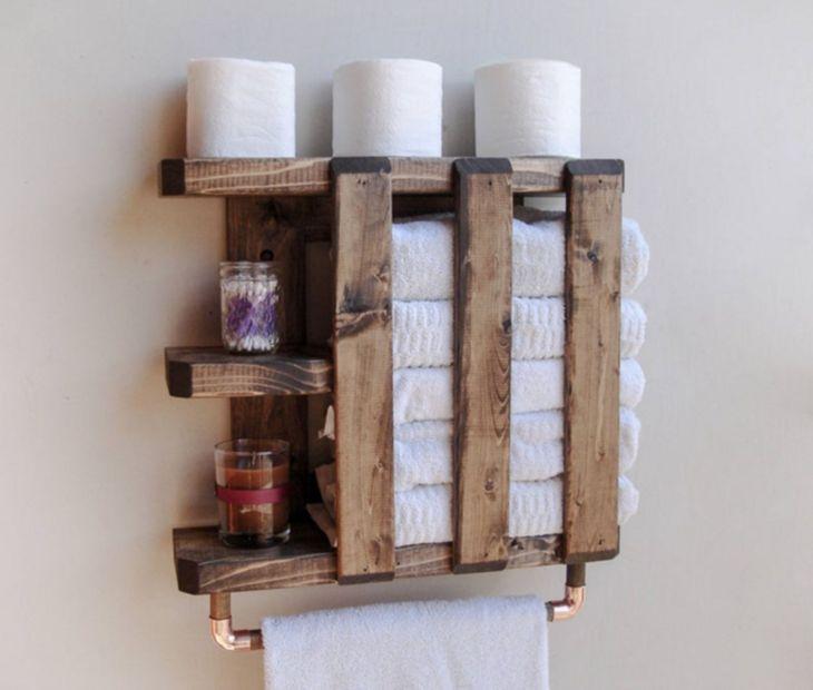10 Einfache Und Gunstige Diy Holzregal Design Ideen Fur Ihr Badezimmer Komfort Diy Holzregale Holzregal Design