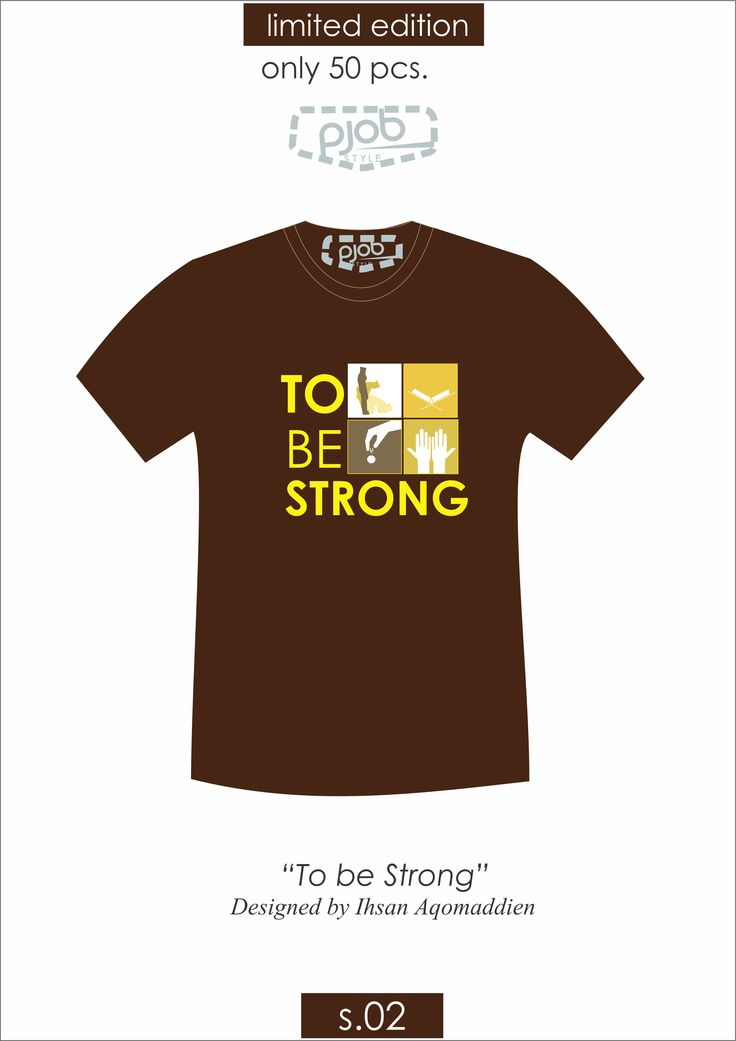 "Be Strong Guy!  this is secret of muslim to be strong.. READY STOCK Only 65K*  Product specification Theme : ""To be strong"" by Ihsan Aqomaddien Code :S.02 Material : combed 24S paint material : Plastisol Inf.* if buy 2 pcs."