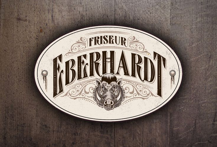 Logotype for local barber. Vintagedesign with Letterheadfont and handdrawn illustration.