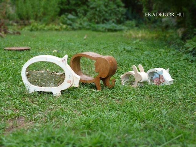 Legelnek a jószágok - vagy kitúrják a szerencsénket...? :) Egyedi kézműves állatperselyek fából az EraDekor-tól. http://eradekor.hu/orias-nagy-malacpersely/