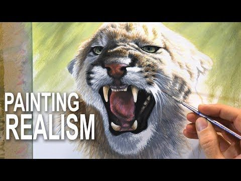 How To Paint Fur and Realism - Mixed-media - YouTube