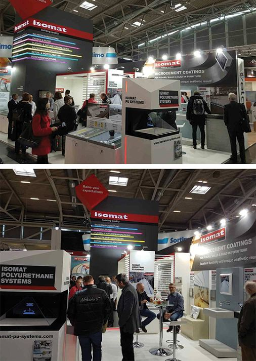It's the fourth day at BAU 2017 in Munich! ISOMAT's pavilion is constantly full of visitors, professionals from all around the world, who are interested in learning more about the company's polyurethane products for waterproofing of flat roofs, the new-generation microcement coating products, as well as the decorative floorings. Visit us at Hall A6, Stand 331!
