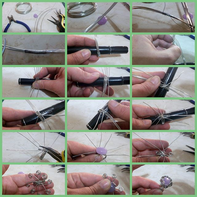 Wire wrap ring tutorial by TruCreations, via Flickr