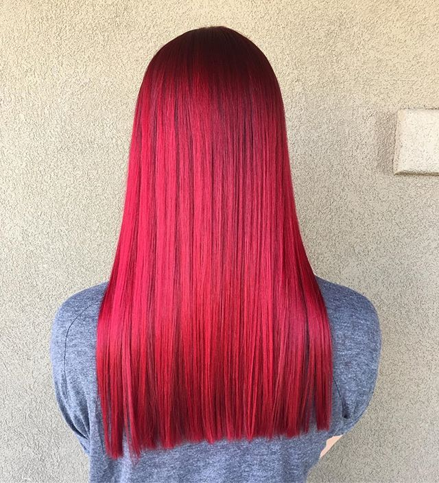 I AM IN LOVE with my new color!! Ah ion Color Brilliance 3 parts Garnet to 1 part Red. The color of my soul. #redhair #gobold #mermaid #mermaidhair
