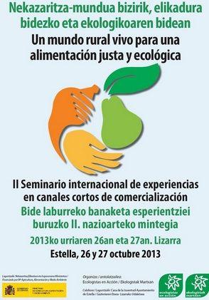 II SEMINARIO INTERNACIONAL: EXPERIENCIAS EN CIRCUITOS CORTOS COMERCIALIZACIÓN EN AGRICULTURA ECOLÓGIA