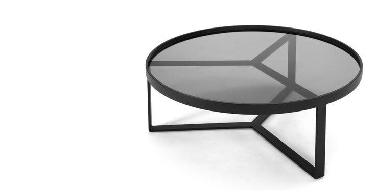 Aula, table basse, noir et gris