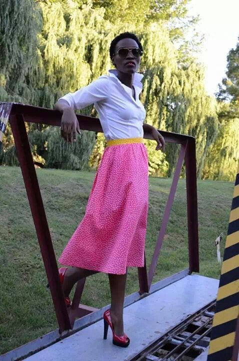 Young throwback #polkadotskirts #pinkskirts #fashionsa #darkmodels #sketiskirts by Nhlanhla Kunene