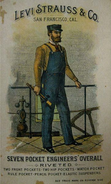 May 20, 1874. Levi Strauss first markets his blue jeans with copper rivets, priced at $13.50 a dozen.