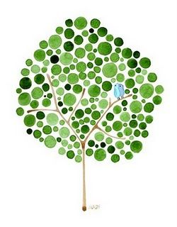 It's just too beautiful! And it's free! This gorgeous tree art by Angela Vandenbogaard is just one of the many free downloads from Feed Your Soul, the free art project. (via spearmint baby)