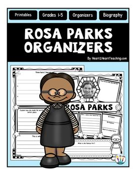 "Rosa Parks : Rosa Parks Graphic Organizers : Is your class learning about one of the most influential women in American History? This custom-created Rosa Parks organizer may be just what you're looking for!Rosa Parks was an African-American Civil Rights activist, whom the United States Congress called ""The first lady of civil rights movement."" She inspired people everywhere to stand up for their civil rights!"