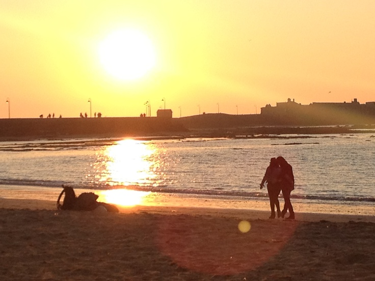 A couple in the sunset