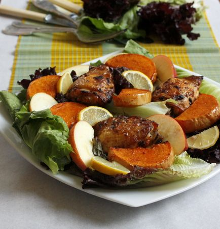 Smoked Chilli and Lime Chicken Salad with Roasted Butternut Squash. Perfect summer Salad.