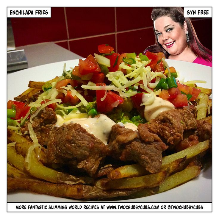 Fan of burger in a bowl? Mix it up a bit with enchilada fries, same principle…