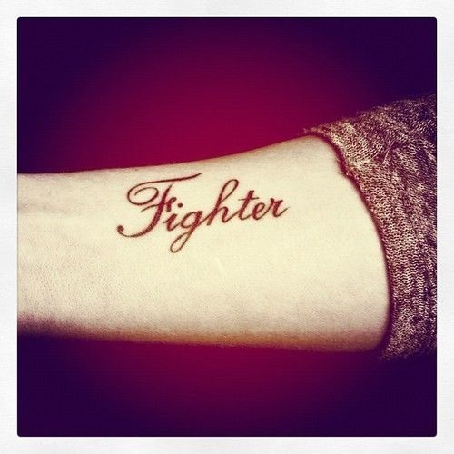 25 best ideas about fighter tattoos on pinterest left for Small cursive tattoos