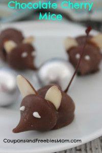 Chocolate Cherry Christmas Mice Recipe