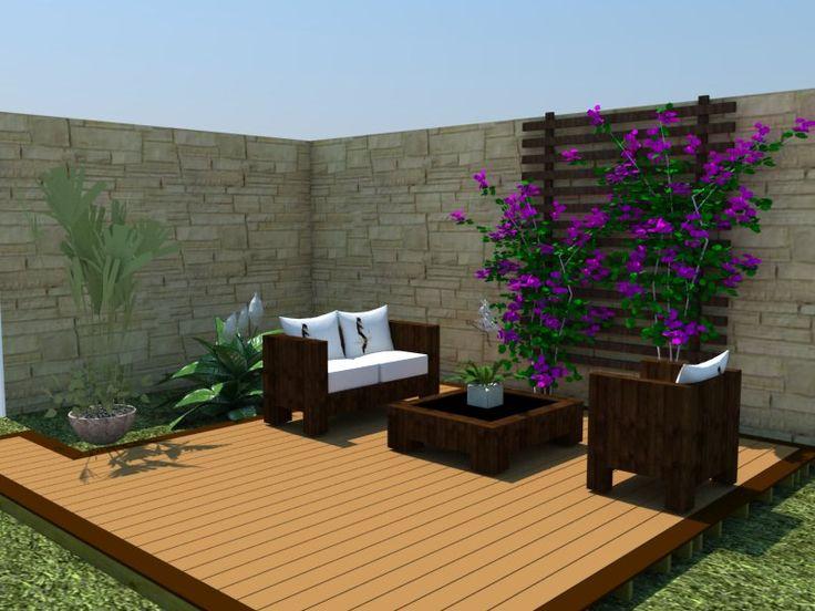 Treli a em deck de jardim jardines pinterest jardines for Design hotel deck 8