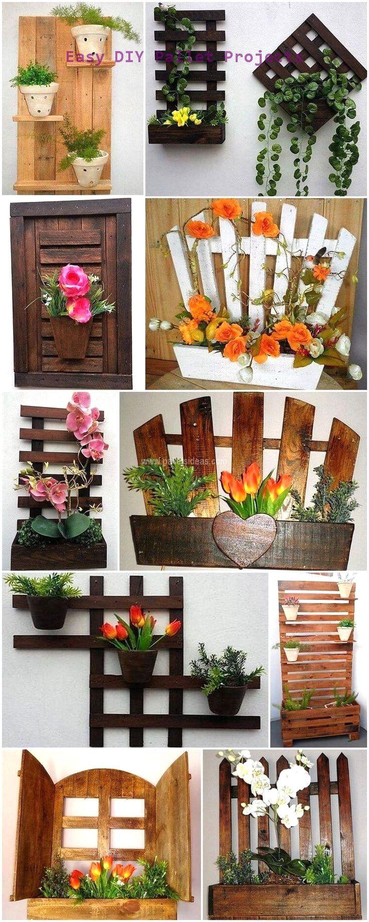 Diy Ideas Using Wood Pallets Pallet Diy Pallet Projects Garden Diy Wall Planter