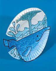 cute paper plate whale