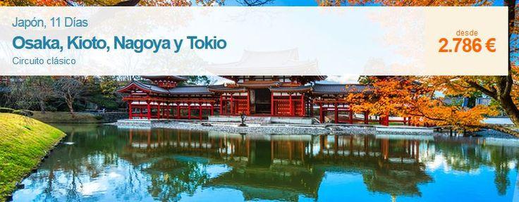 Esta si que es una gran oportunidad para viajar a Japón! Mira que súper precio tenemos para descubrir el destino más sugerente de Asia, 11 dias de viaje en un circuito con salida 24 de Abril. Y si quieres conocer todas las salidas a los mejores precios, no dudes en consultarnos!