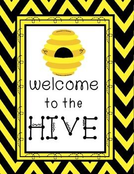 EXTREME MAKEOVER: CLASSROOM EDITION SWEET AS HONEY PRINTABLE BEE THEME KIT for black and yellow or bee themed classroom