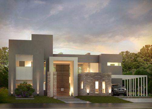 Las 25 mejores ideas sobre fachadas de casas modernas en for Casas modernas planos y fachadas