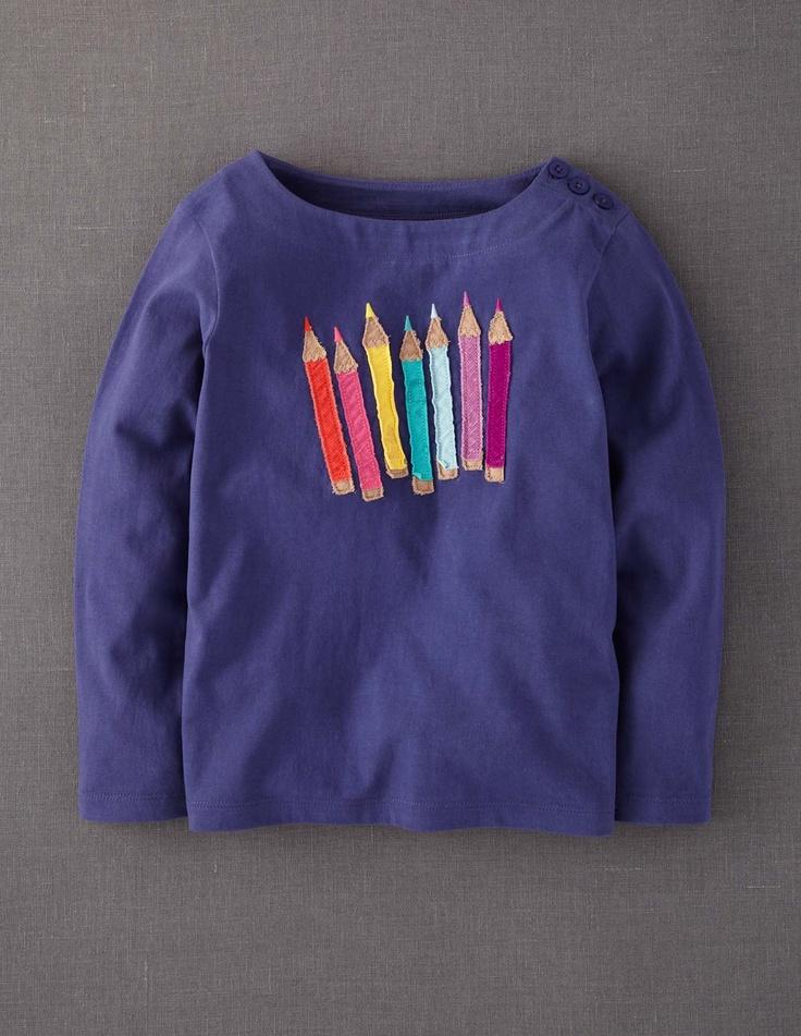 Colour Pop Appliqué T-shirt 31586 Tops & T-shirts at Boden