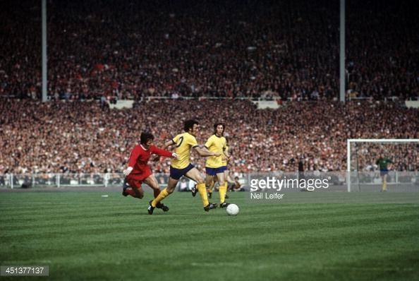 News Photo : Arsenal FC Ray Kennedy in action vs Liverpool FC...