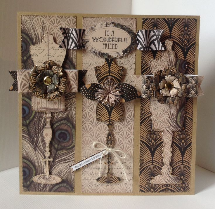 Craftwork Cards Vogue Collection.  Card designed by Julie Hickey