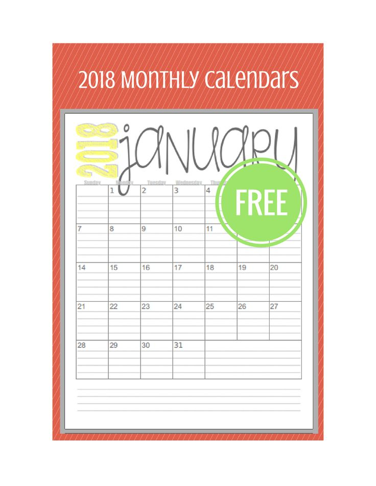 I know this is a bit early... but I had a request for a 2018 monthly calendar and I really didn't want to disappoint. So... this is basically the same as the 2017 monthly calendar just changed for 2018. get it now and prepare for next year. ... 2018 Monthly Calendar ... Thanks for stopping…