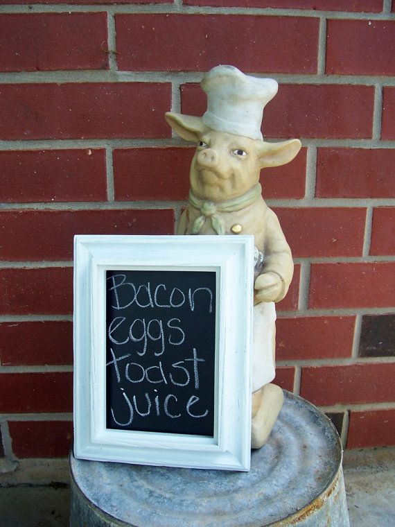 Pig Kitchen Ceramic Pig Chalkboard Kitchen Menu Pig Decor