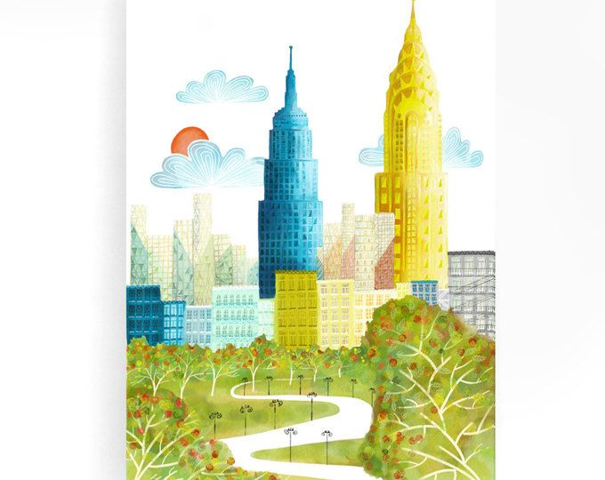 Empire State Building Skyscraper New York Wall Art Large Poster Canvas Picture