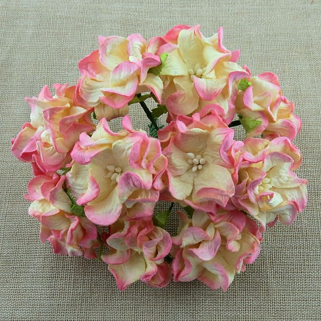 2-TONE CHAMPAGNE PINK GARDENIA FLOWERS