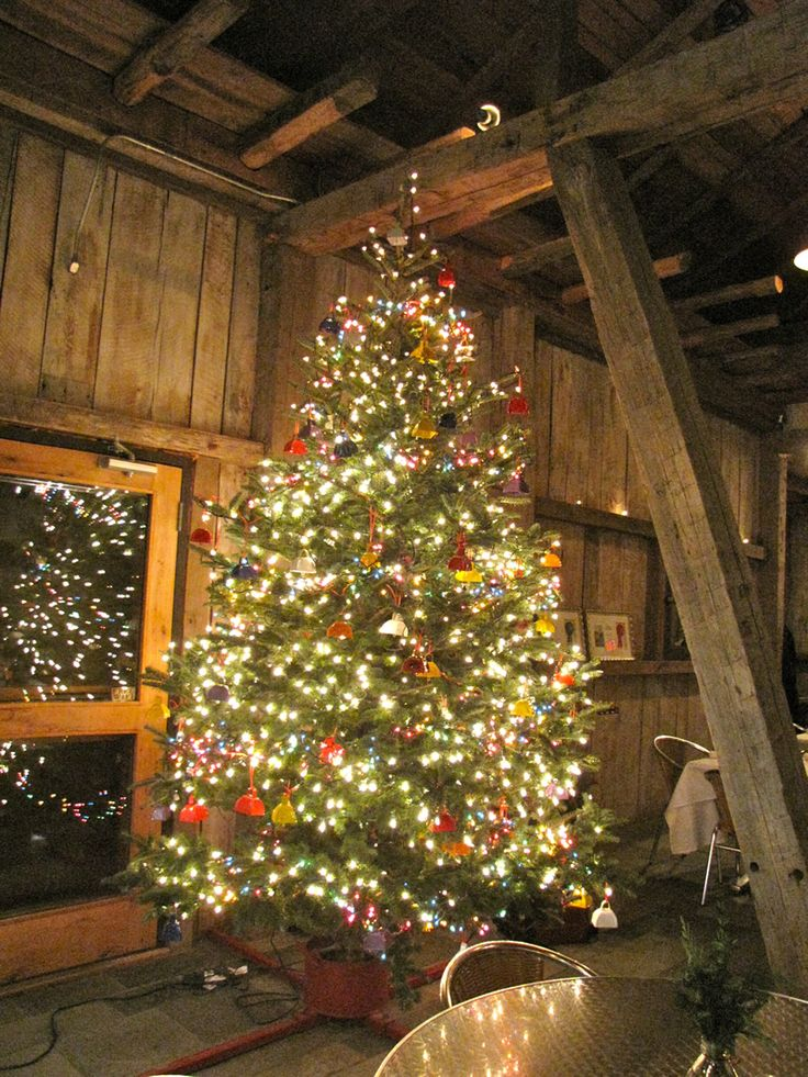 Christmas Tree In The Barn