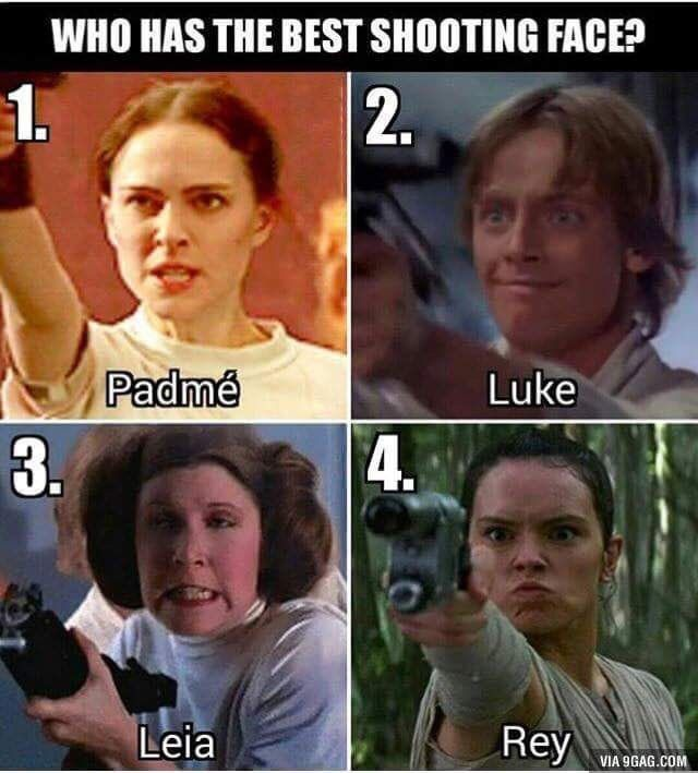 Best Shooting Face Wfaves Best Shooting Face Star Wars Jokes Funny Star Wars Memes Star Wars Humor