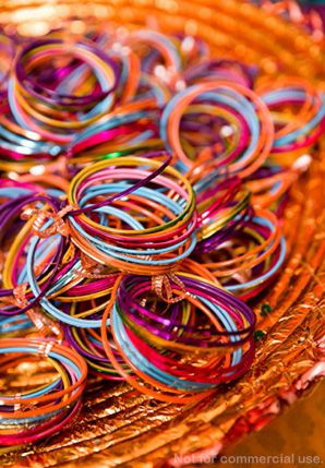 Indian wedding favours, pretty chudees!