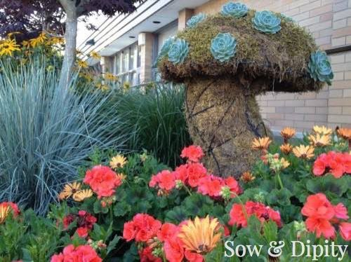 Garden Bed With Mushroom Topiary 9 More Design Ideas In This Post