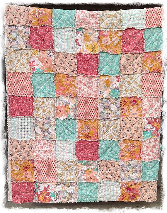 Rag Quilt  Queen Size  Modern Summerlove Sunkissed by DelilahKaye, $340.00