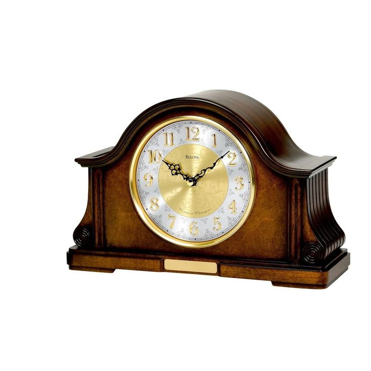 Bulova B1975 Chadbourne Quartz Harmonic Solid Wood Analog Mantel Clock (brown)