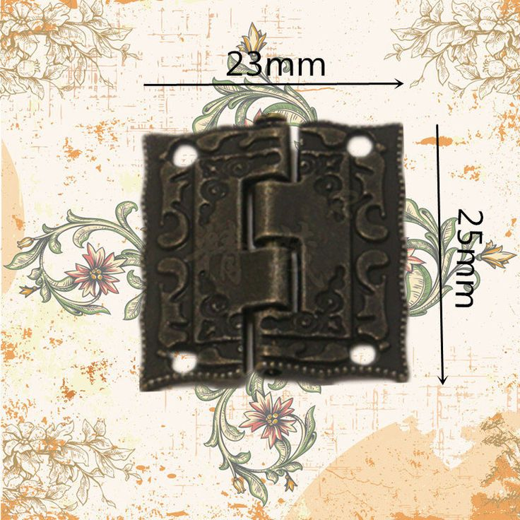 10 pcs 25MMx23MM Jewelry Box hinges  gift box Hinges  Wooden box Hinges with Screws (180 degrees) by DiySupplyers on Etsy