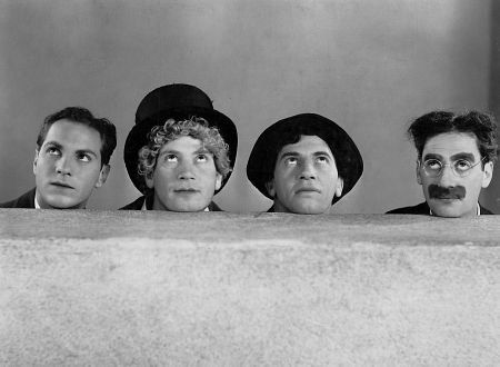 (l to r) Zeppo, Harpo(<3), Chico, and Groucho. circa 1930 (can you tell which Marx's brother is my favorite)