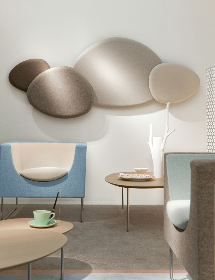 Allow yourself some freedom to be creative with STUA's Satellite acoustic panels,... and they reduce room noise!