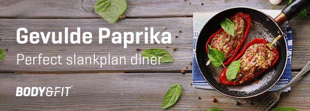 Slankplan recept: gevulde paprika | Blog | Body & Fitshop