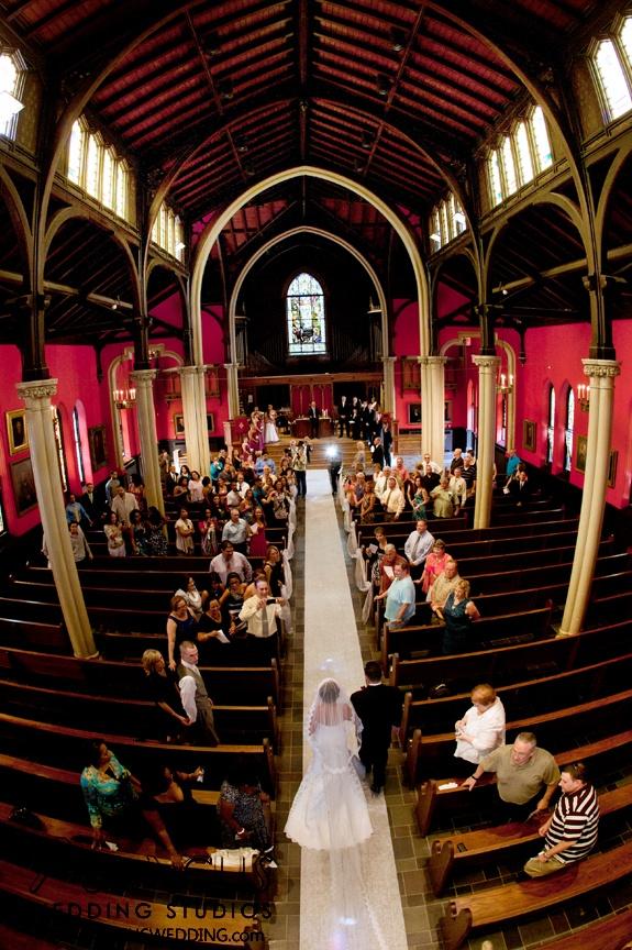 Wedding ceremony at Kirkpatrick Chapel, New Brunswick, New Jersey
