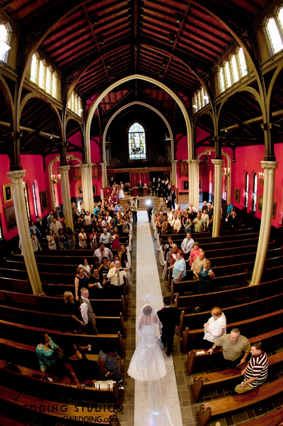 Wedding ceremony at Kirkpatrick Chapel, New Brunswick, New Jersey