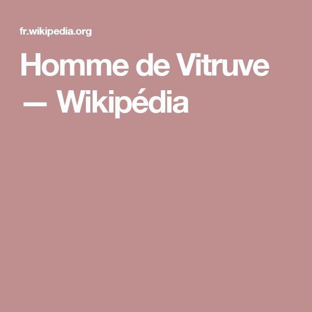 Homme de Vitruve — Wikipédia