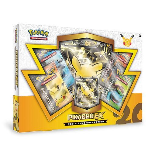 Electrify with Pikachu-EX! Pikachu is one of the original superstars of the Pokémon world! Celebrate 20 years of Pokémon with the Pokémon TCG: Red & Blue Co
