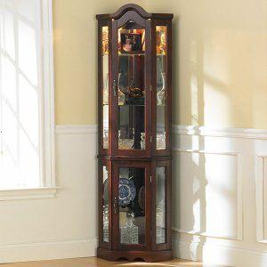 Coaster Furniture Canton Curio Cabinet - Curio Cabinets at Hayneedle
