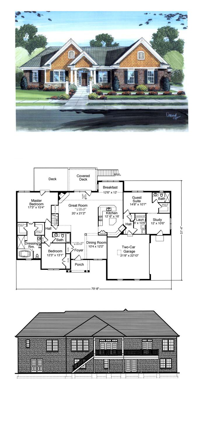 Colonial Traditional House Plan 98610 Colonial House