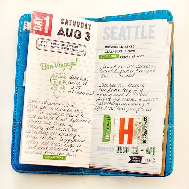 Travel Journal with free downloads {A Stitch in Time}