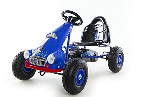 Kids Pedal Go-Kart Ride-on Car Racing Style Blue MIGOTOYS